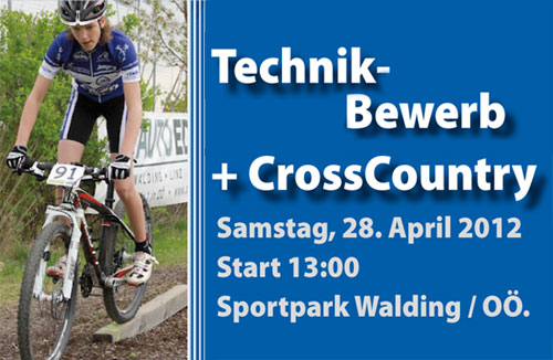 MTB Technik-Bewerb 28. April Sportpark Walding