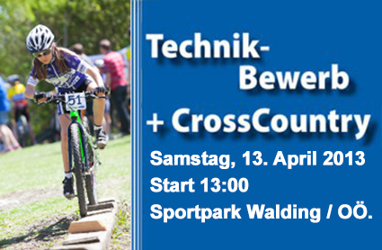 MTB Technik-Bewerb 13. April Sportpark Walding